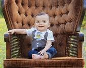 Newborn-24 months Boys Corduroy Tie Vest Bodysuit