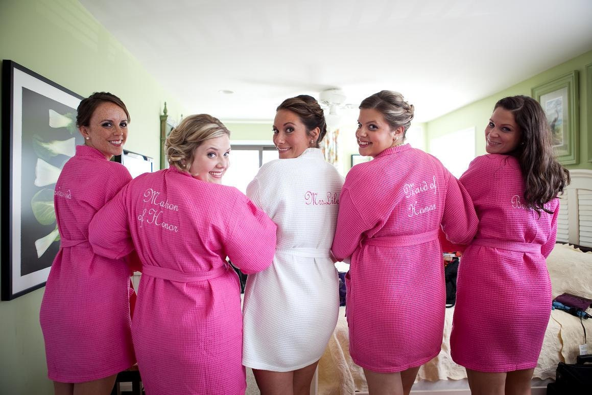4 Wedding Party Bridesmaids Spa Robes By EmbroiderybyMelissa