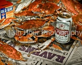 Baltimore Ravens Win Superbowl XXXV Steamed Crab Photography