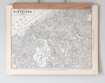 Cleveland 1930s Map | Antique Ohio City Map