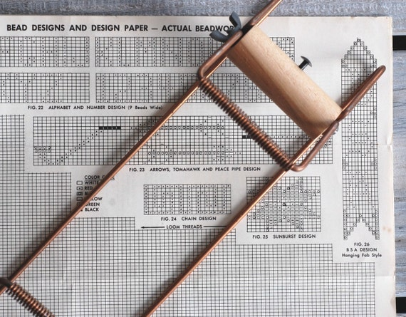 Vintage 1960s Bead Loom Arts and Crafts Kit / Indian Beadloom for Belts, Bracelets, and Other Beadwork