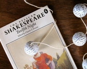 Twelfth Night Shakespeare Ball Garland Christmas Tree Holiday Decoration from Vintage Book Cyber Monday Etsy