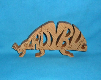 Ladybug Handmade Scroll Saw Wooden Puzzle