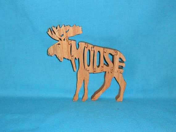 Moose Wooden Handmade Scroll Saw Puzzle