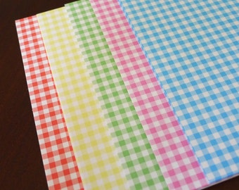 Pattern of Checks - Pretty Rainbow Paper Pack for Origami Paper Crane Folding - 50 sheets