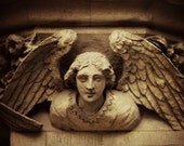 Architectural Photography Angel Sepia Tone Historical Architecture Home Decor 10x8 Print Guardian... - VictoriaEnglishCharm
