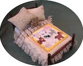 Dolls House Luxury Dressed Single Bed - Joshua