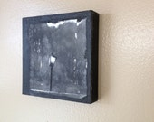 The light post painting on wood panel