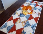 Table Runner in a Modern Courthouse Steps by Dreamy Vintage Sheets