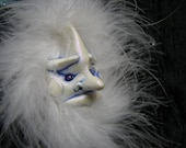 Snowie or North Wind sculpted ornament OOAK Frost Goblin