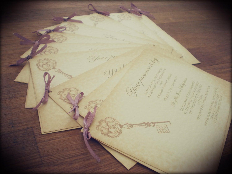 Summer Wedding Invitations: Items Similar To Wedding Invitations