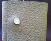 Light Tan Leather Journal (with printed endpapers)