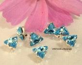 Swarovski Aqua Blue Triangle Sew-on Settings 6mm (8)