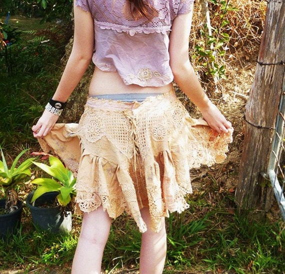 GYPSY COWGIRL hippy skirt, country rock, M, L, XL
