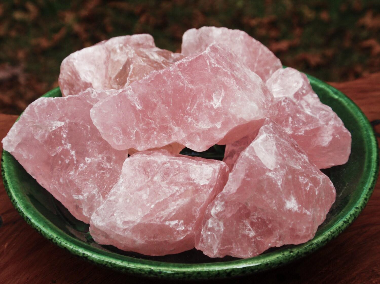 ROSE Quartz Crystal Gemstone Raw Uncut Small by ...