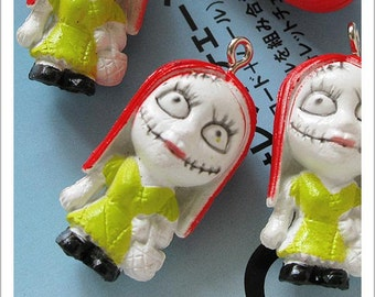 4pcs of Miss Zombie Plastic Charms