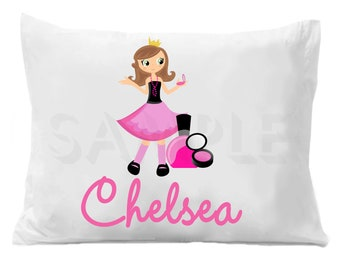 Diva Glamour Girl Pillow Case Personalized Pillowcase