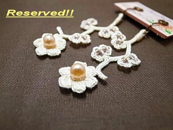 Crochet Lace Jewelry (Wild Flower 2w) Earrings