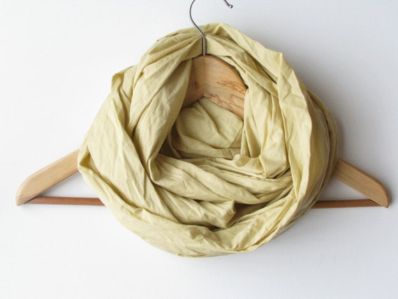 Infinity scarf - yelow cotton cowl