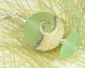 Beach Jewelry Eco Friendly Sea Foam Sea Glass Cresting Wave Necklace