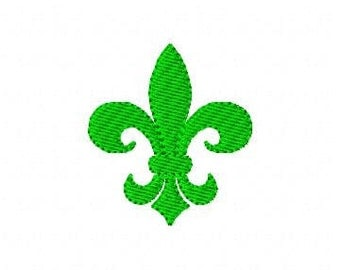 Fleur de Lis Small Machine Embroidery Design // Joyful Stitches
