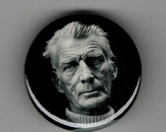 Samuel Beckett Playwright Portrait 1.25 inch Button