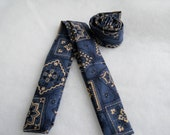 Neck Cooler Blue Bandana Print 36 inches