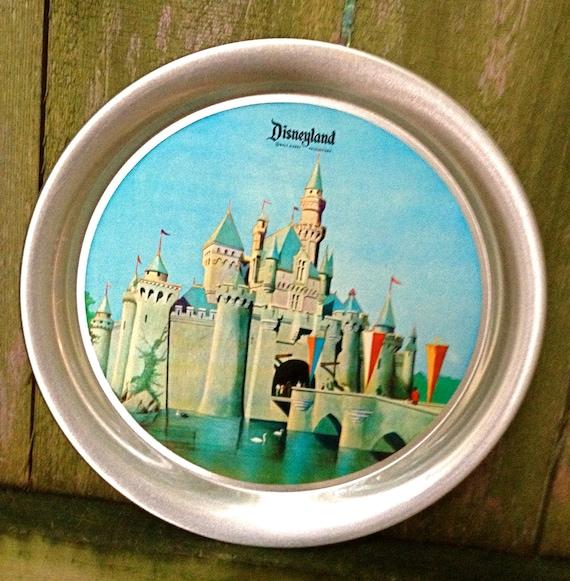 vintage Disney tray - 1950s-60s Disneyland metal travel souvenir tray
