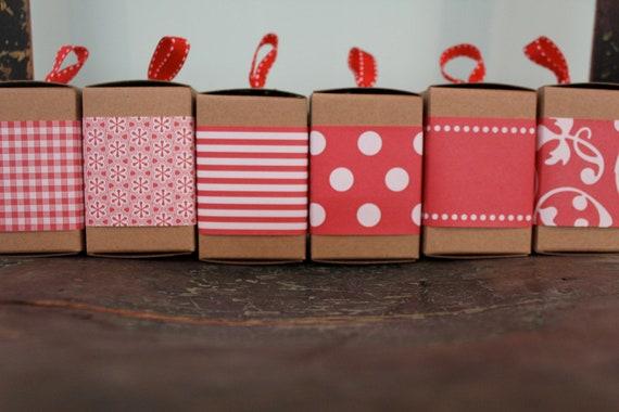 3 Box Set Red Paper Ribbon
