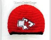 Kansas City CHIEFS / Team Logo  / Beanie / Hat / Crochet Handmade