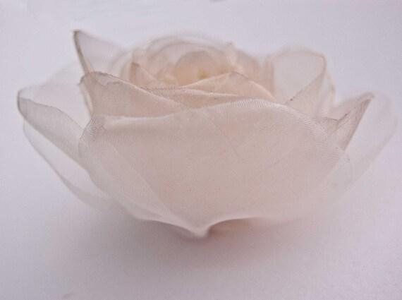Wedding  bridal accessory, brooch and hair clip, flower hairpiece,  blush beige, ivory flower , sash flower - SALE