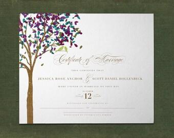 Unique Custom Marriage Certificate