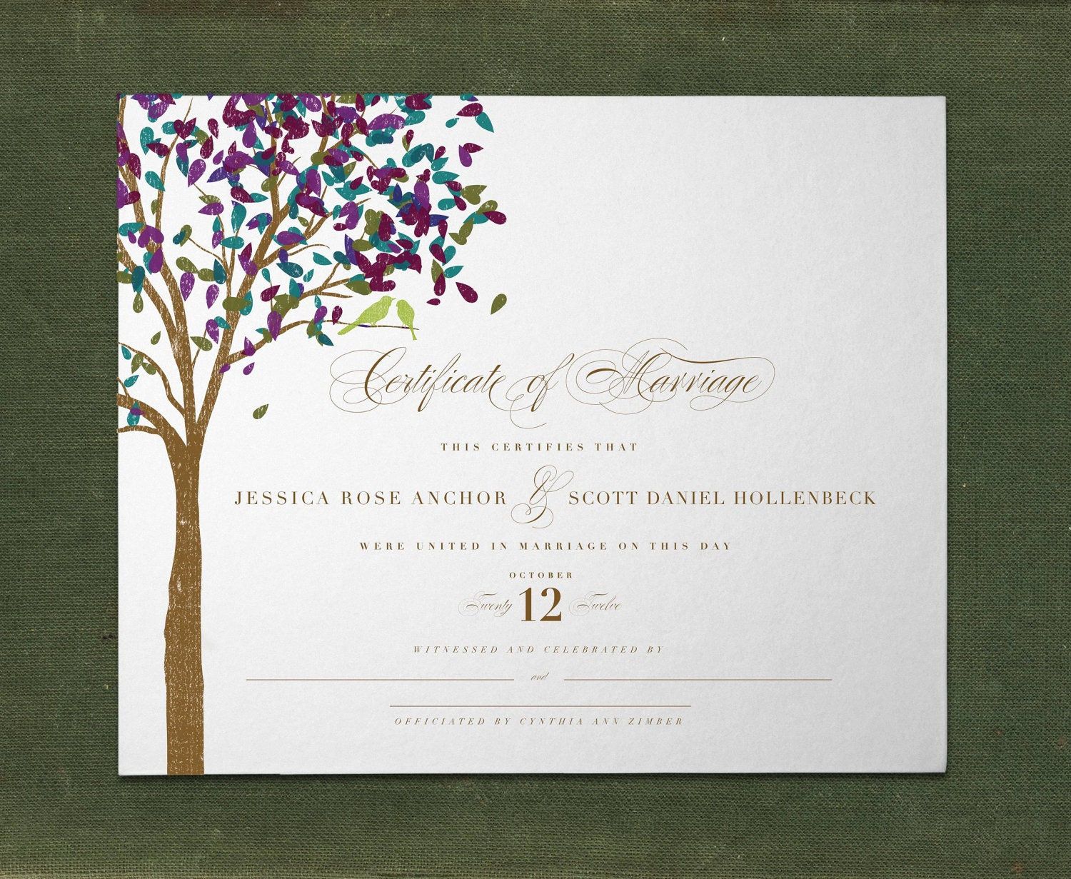 Unique Custom Marriage Certificate By Sarahrusin On Etsy