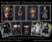 Wizard of Oz Ornaments PATTERN PACKET for all 9 ornaments by cheswickcompany