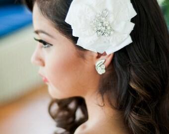 The RUBY - bridal headpiece, bridal fascinator, bridal hair clip