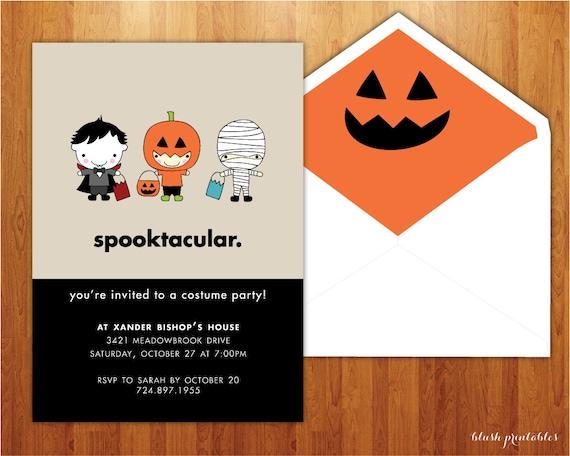 Spooktacular  - Kids Halloween Party Invitation - Birthday Party Invitation - 5x7 Printable JPEG DIY Invitation