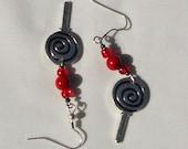 Lollipop charm earrings