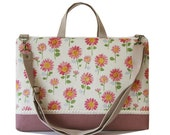 """15"""" Macbook or Laptop bag with handles and detachable shoulder strap- sunflower"""