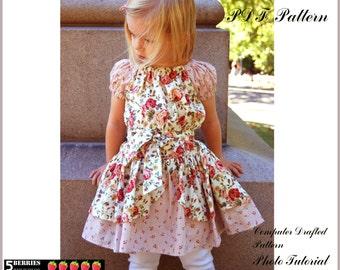 Alexandra PEASANT DRESS PATTERN+ Free Mother-Daughter Apron Pattern, Children's Sewing Patterns, Girls Dress Patterns, Baby, Toddler