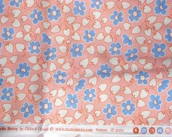 Hello Betty Berry Blossom pink blue moda fabrics FQ or more