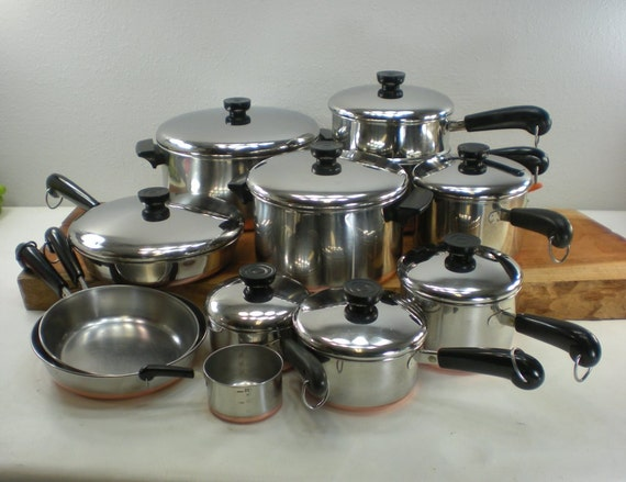 Revere Ware 20 Piece Cookware Set Stainless By Oldetymestore