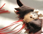 Ginger - tiny bat ornament