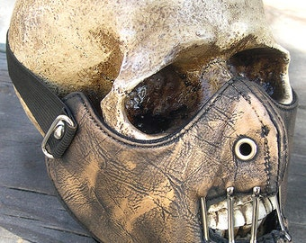 Gold Brass Look Distressed-Look HANNIBAL LECTER Steampunk Dust Riding MASK - A Burning Man Must Have
