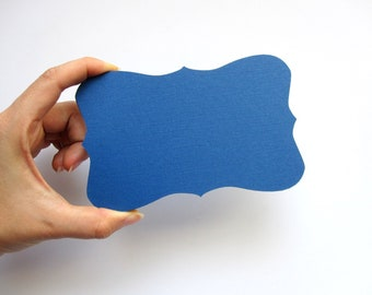 12 BIG Bracket cards (5.5 x 3.5 inches) in Navy Blue Textured Cardstock A375