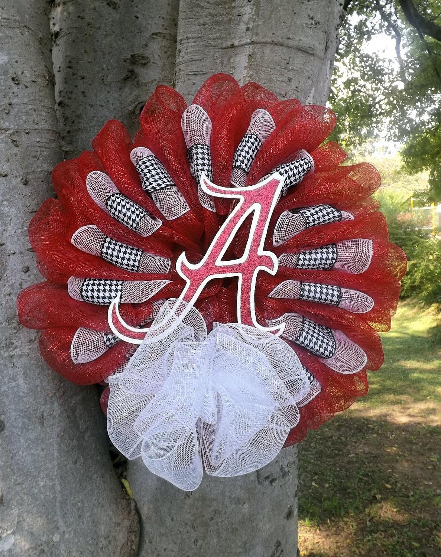 Alabama Elephant Deco Mesh Wreath   Home Design Ideas