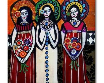 65% Off- Mexican Folk Art Ceramic Tile