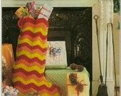Vintage Ripple Stocking Crochet Pattern PDF 458 from WonkyZebra