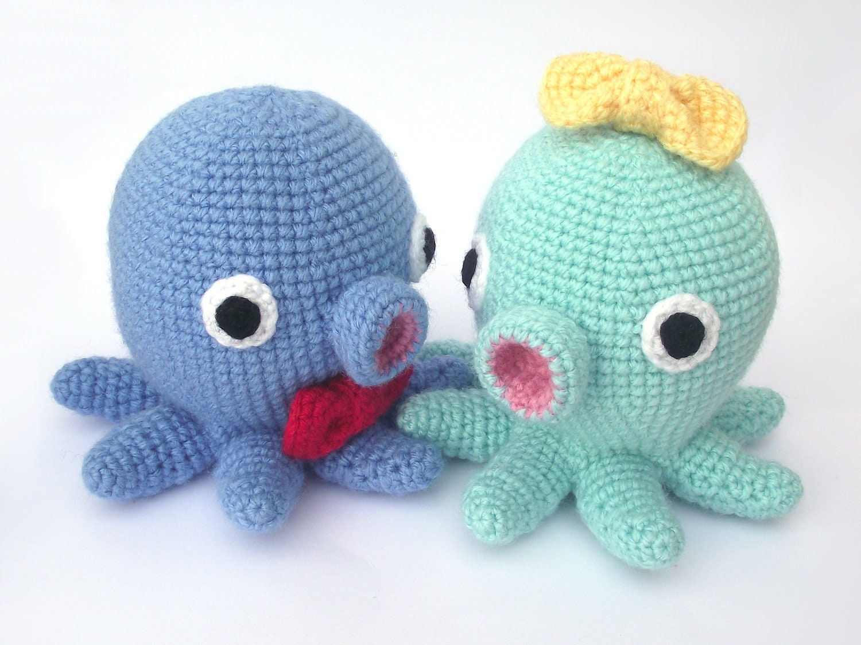 Amigurumi Ponyo Pattern : Kawaii Octopus Amigurumi Pattern PDF