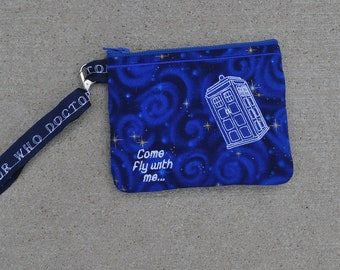 Doctor Who Wallet Wrislet with Embroidered TARDIS Style Two