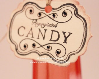 Halloween Gift Tags - Regurgitated Candy - Vintage Inspired Handmade Halloween Tags (Set of 8)